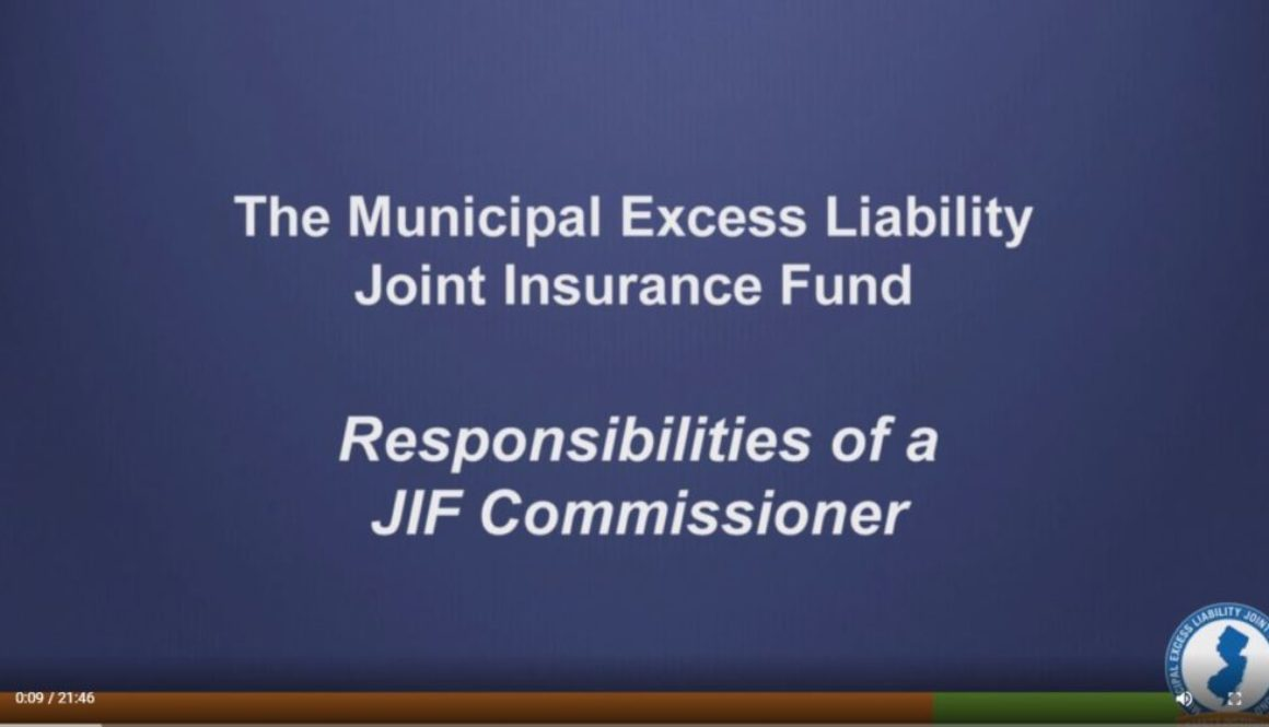 Responsibilities of JIF Commissioners