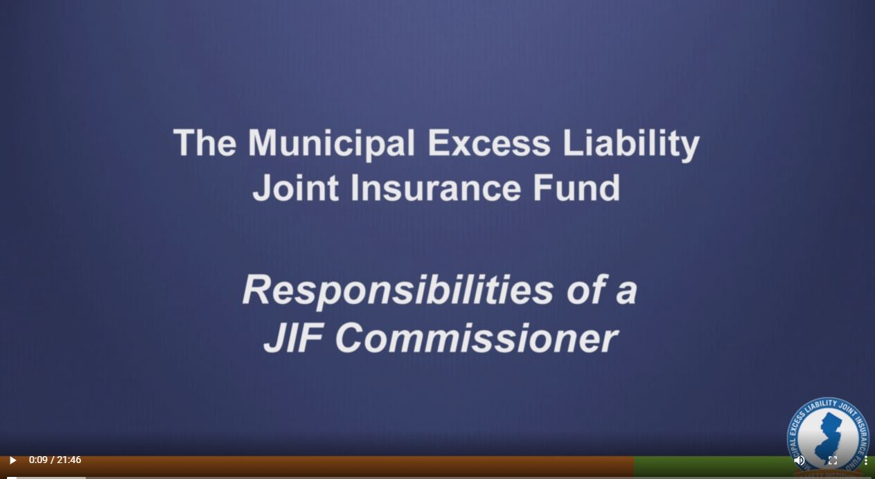 Click on the image to view: Responsibilities of a JIF Commissioner (22 minutes)